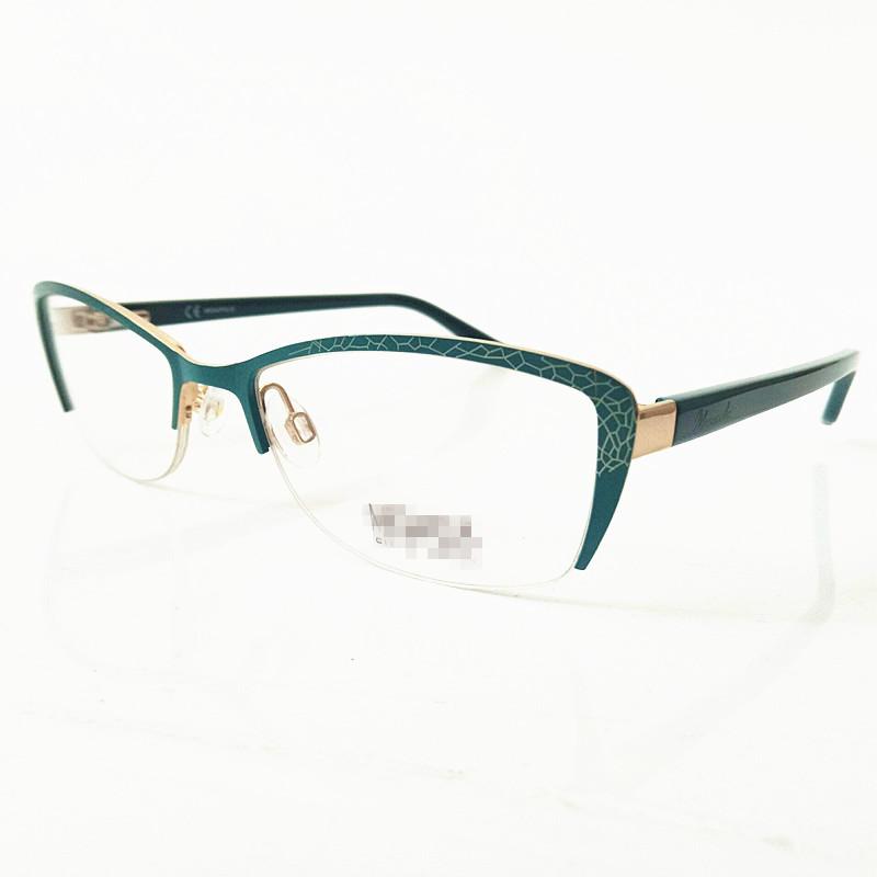 Vintage Decoration acetate Eyeglasses Frame metal spectacles eyewear optical frames