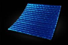 aluminum foil blue coating woven cloth bubble heat insulartion material