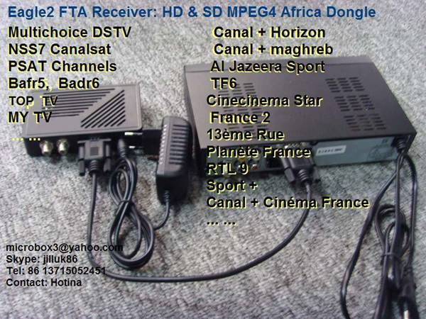 2011 Eagle-2 MPEG4 FTA Receiver--DSTV,NSS7,Badr6,Psat,HITV,MY TV
