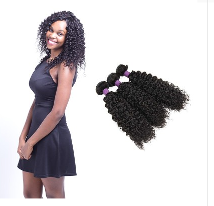 [9A]3 Bundles Jerry Curly Brazilian Hair Weave