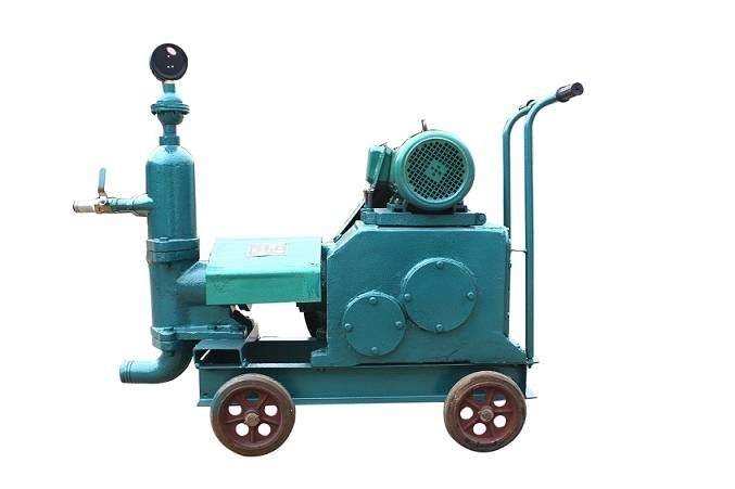 Single cylinder piston grouting pump/injection pump