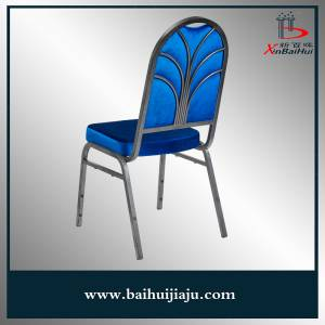 Hotel Metal Blue Fabric Restaurant Banquet Chair Furniture