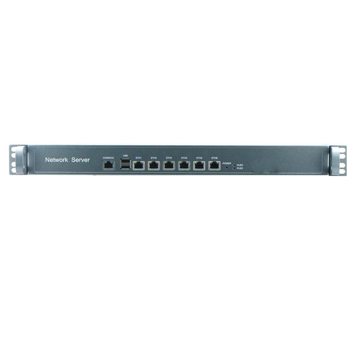 Cheap Intel Atom D2550 1U Industrial Rackmount Barebone for Network Security Application with 6Nic