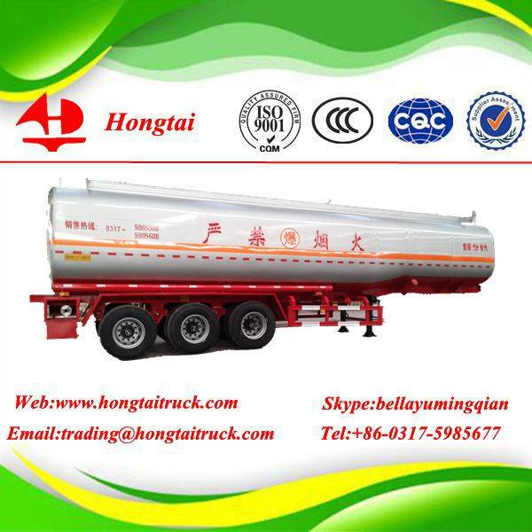 3 axles 47.6 m3 fuel tanker semi trailer