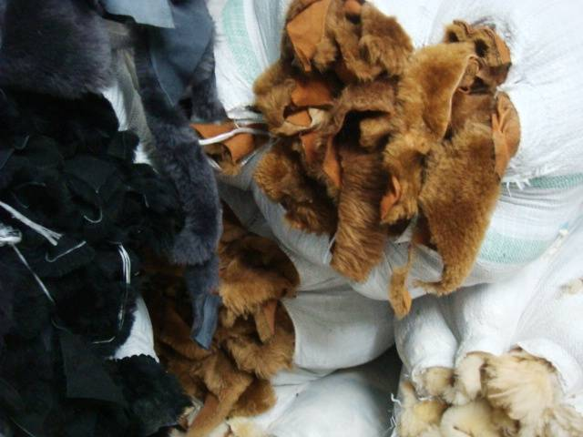 SELL OF DOUBLE FACE SHEEP LEATHER SCRAPS