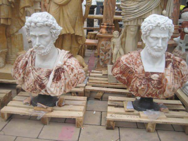 Marble stone bust