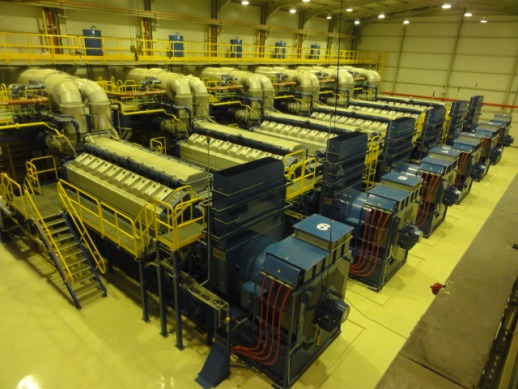 60 MW Wartsila Natural Gas Generator Power Plant