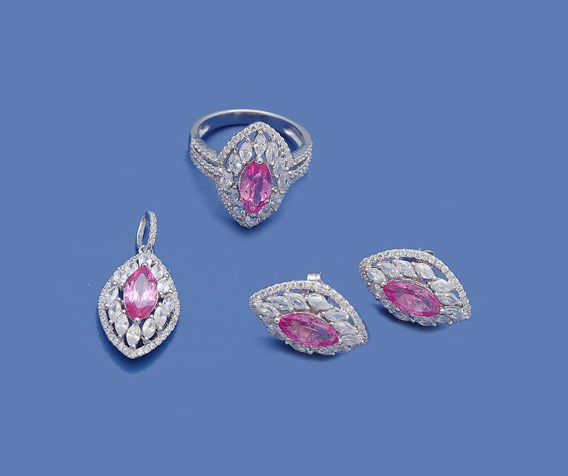 925 sterling silver jewelry set,ring/pendant/earring GS-106