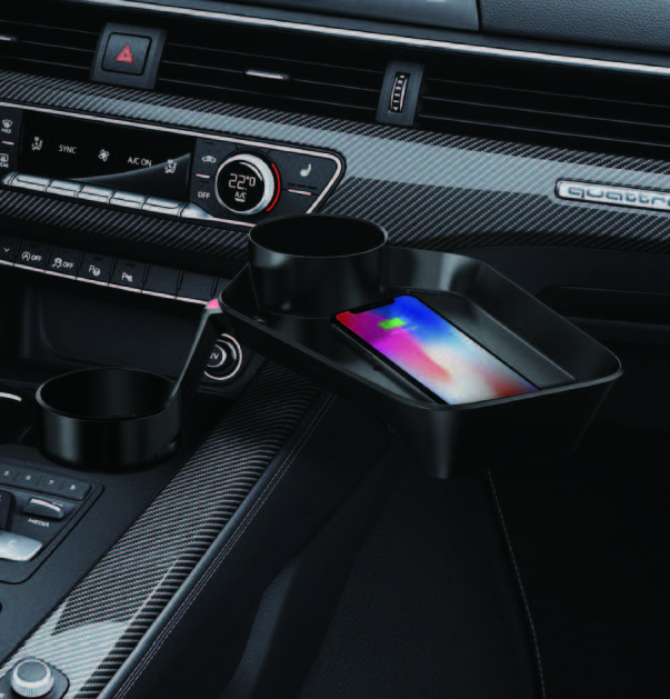 CUPLUS2 Car Cupholder & tray with wireless charger