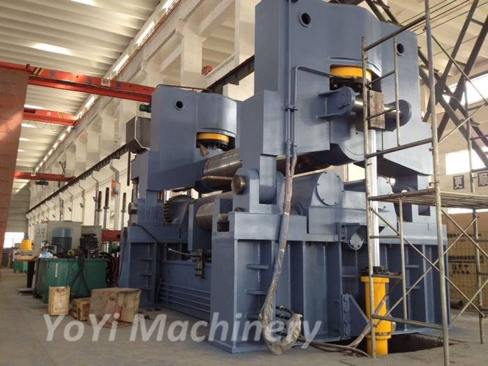 W11S-80mm 3200mm hydraulic plate bending roll machine