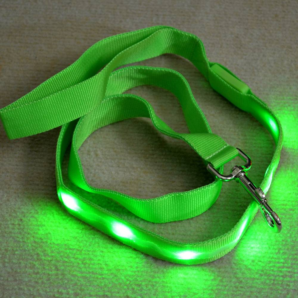 LED light up dog leash