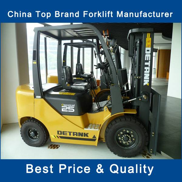 New 2.5 ton counter balance diesel forklift price for sale