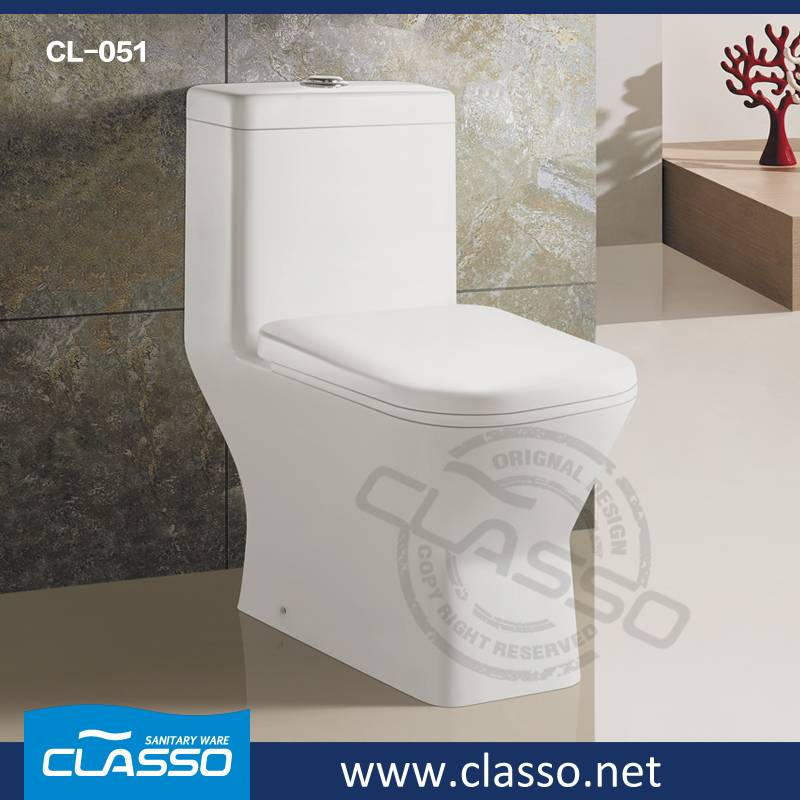New design siphonic toilet CLASSO 4-inch one piece water closet CL-051