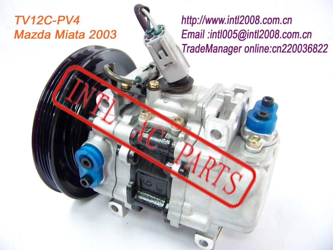 TV12C Auto A/C Compressor Pump for 2003 MAZDA MIATA OEM#54201-4150 54201 4150