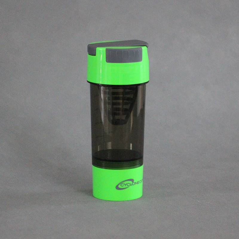 600ml plastic protein shaker cyclone cup blender mixer bottle with filter and containers