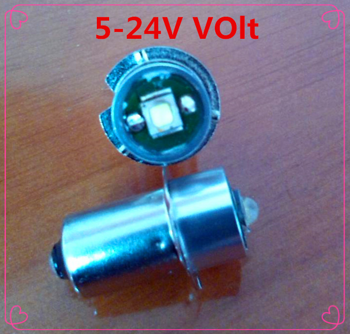 LED P13.5S 3W recessed screw LED light 3V-18v P13.5 3W screw base LED p13.5s 3w flashlight bulb 18V
