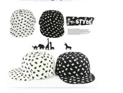 2014 Korean version caps of the new men's and women hip-hop cap flat printing elephants along baseba
