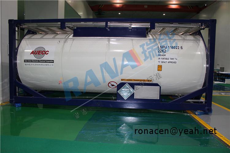 ISO tank lined PFA