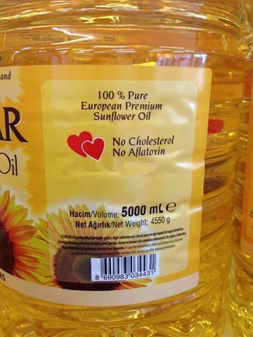 Pure refined sunflower oil. 1lt, 1.8lt, 5lt Pet bottles.Samples available