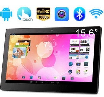 15.6 inch Android Tablet PC with touch screen advertising display