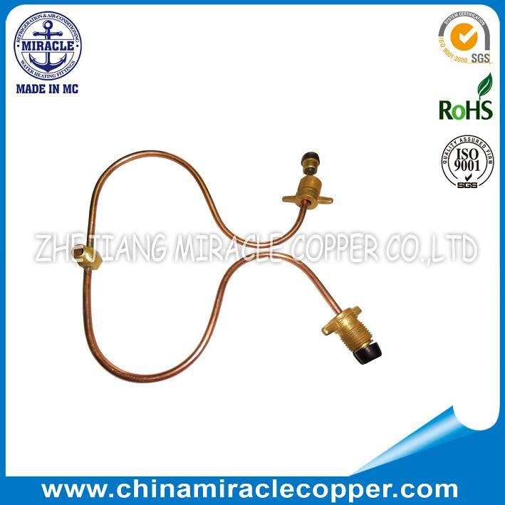 Refrigeration Parts Copper Capillary Tube With Connector