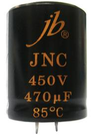 JNC - 2000H at 85°C Snap-in Aluminum Electrolytic Capacitor