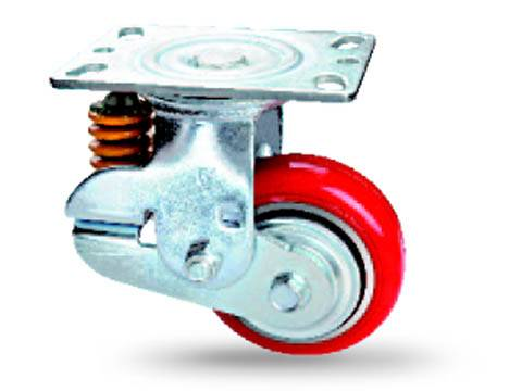 Shock Absorbing Casters spring loaded casters
