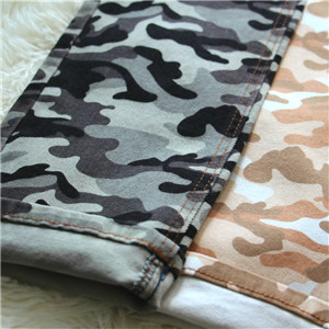 Camo Print Denim Twill  Stripe Twill Fabric  Denim Fabric