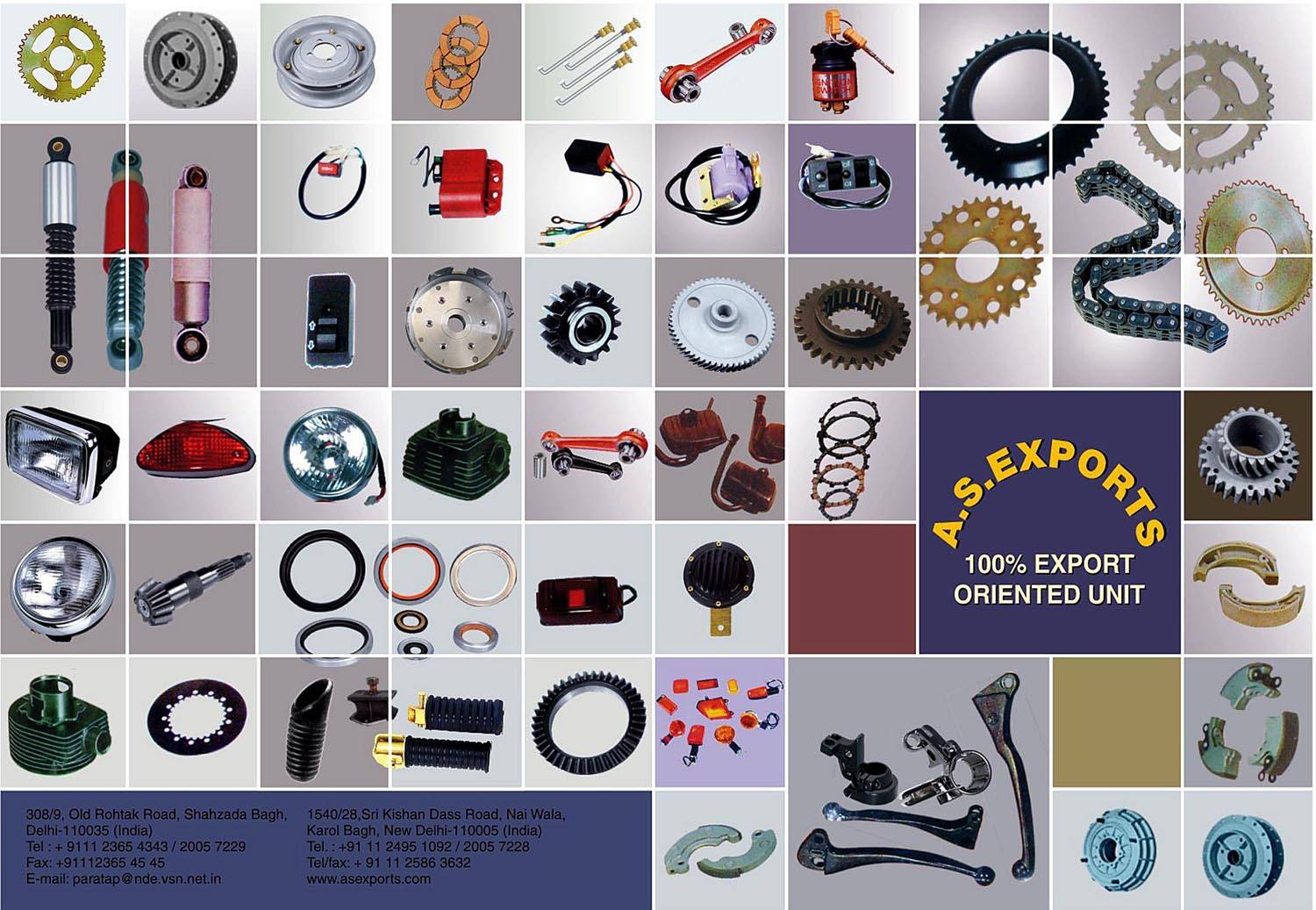 Selling spare parts & accessories for indian origin Scooters,Motorcycles,Mopeds,Portable Genrators.