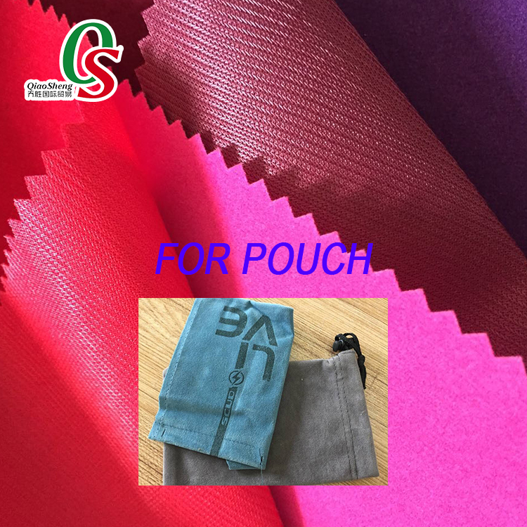 Flocking fabric for pouch