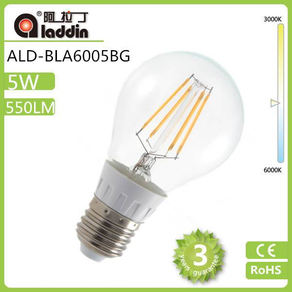 Edison Style 4W 6W 5W A60 Led Filament Bulb Dimmable