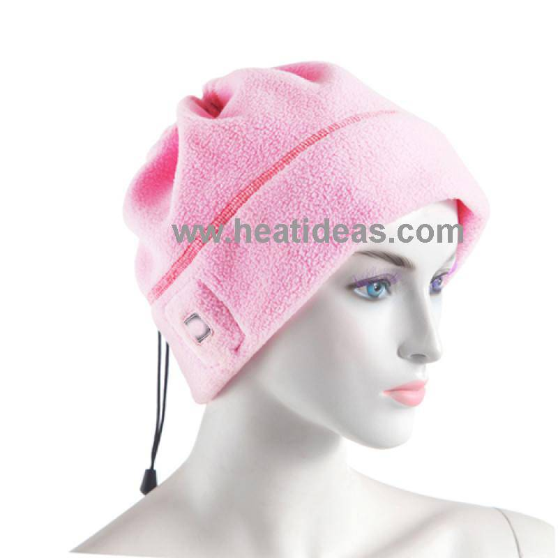 Battery powered far infared heating hat, head warmer