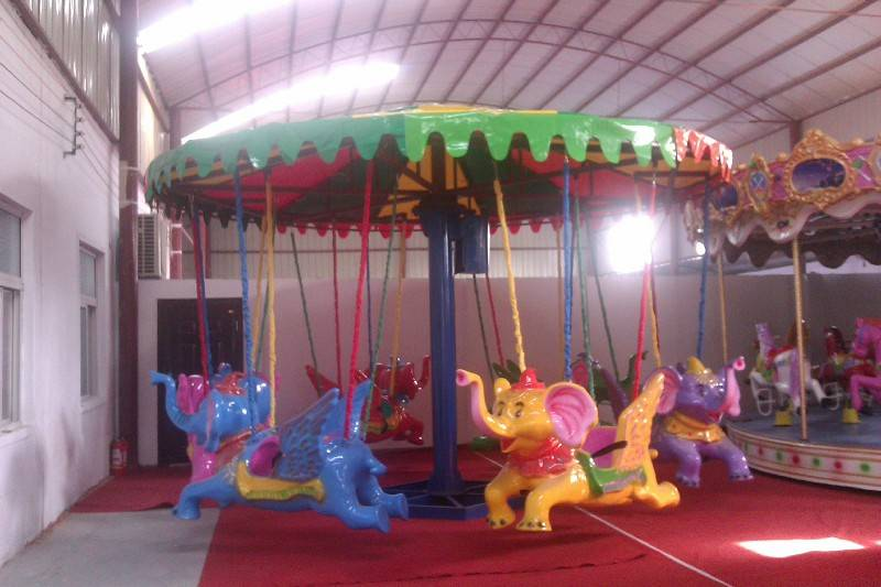 environmental amusement rides electrical flying elephant