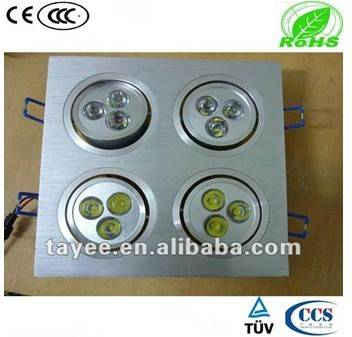 AD17-TH-007 square recessed led ceiling spot light