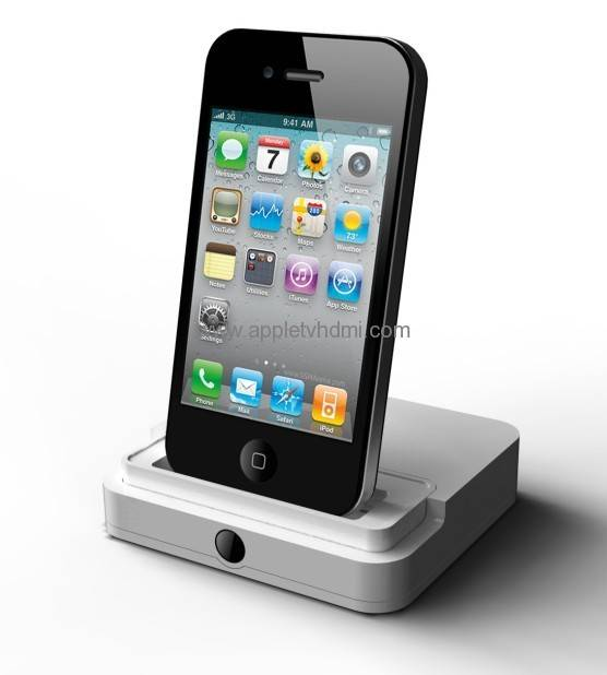 HDMI Dock for Apple's iPhone 4/iPad/iPad 2/iPod Touch, with Audio Line Output Port