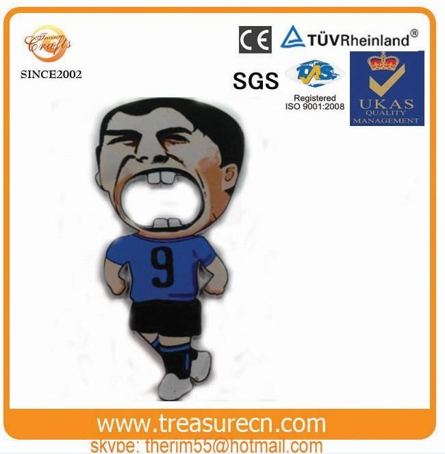 Manufacturer producing man of the suarez bottle opener