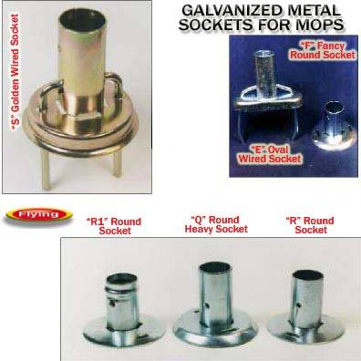 Galvanized steel Sockets, Ferrules, Connectors for Mops