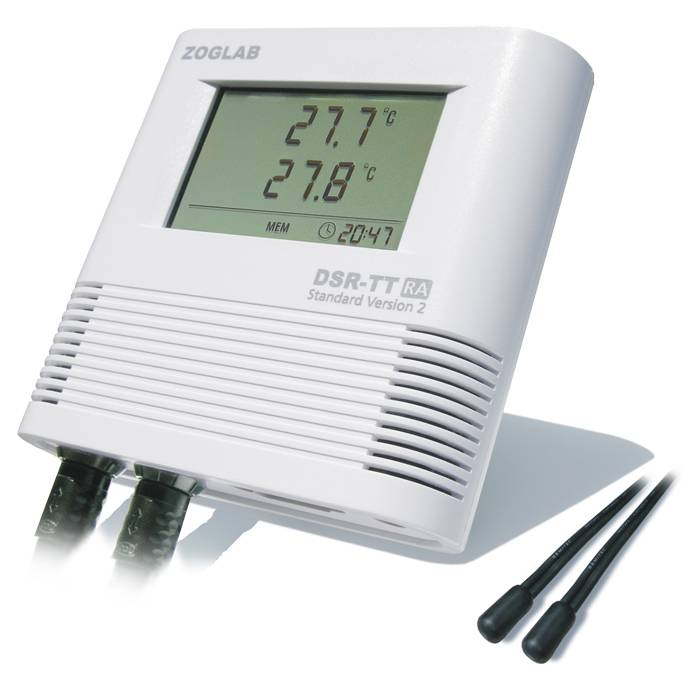 Dual Temperature Data logger with External Probe