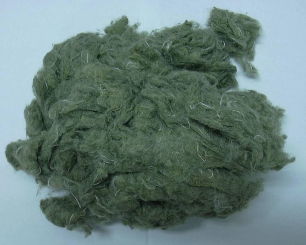 Garnetted aramid fiber