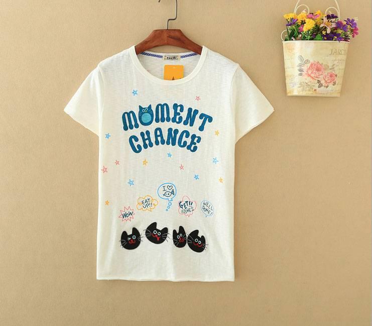 2015 New Lady Moment Chance Short SleeveT-Shirt