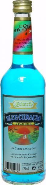 0.5litre bottle of blue orange liqueur