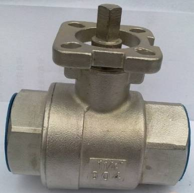 SS316 1/4FNPT 2-pc ball valve with high platform