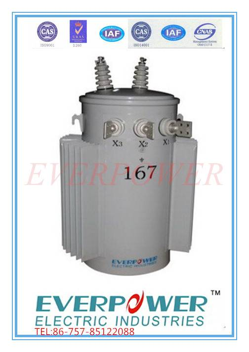 Pole mounted single phase transformer 13.2Gd.Y/7.62kV