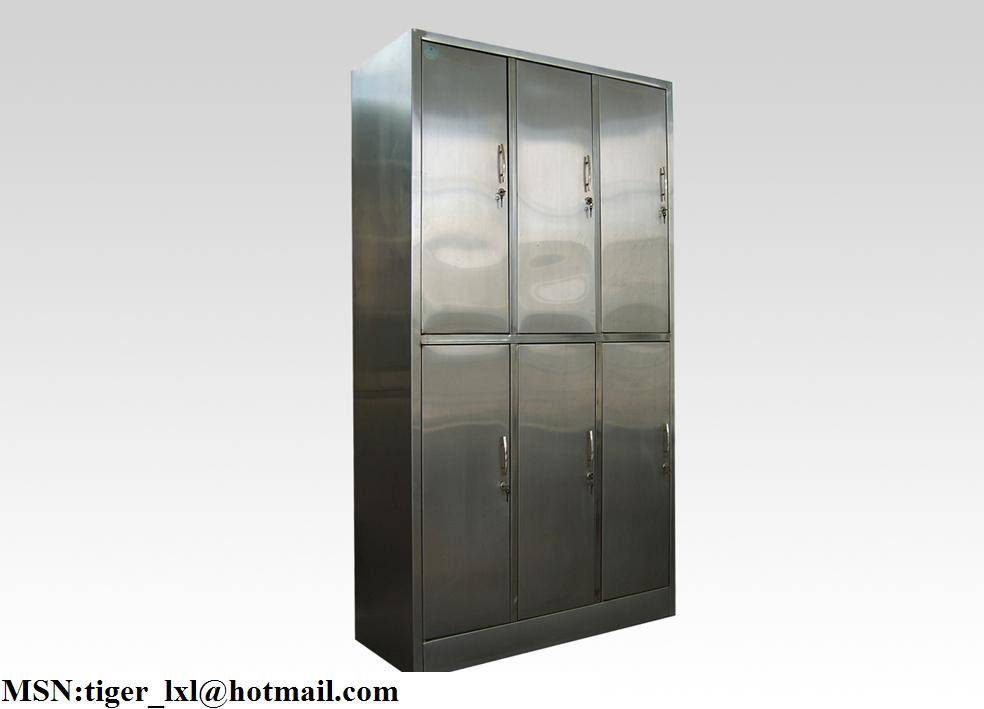 C-8 Six doors stainless steel clothes medical cabinet