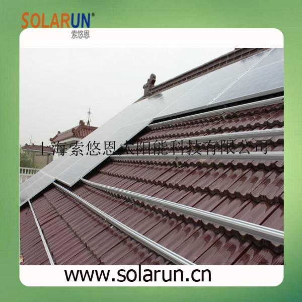 pitch tile roof solar bracket (Solarun Solar)