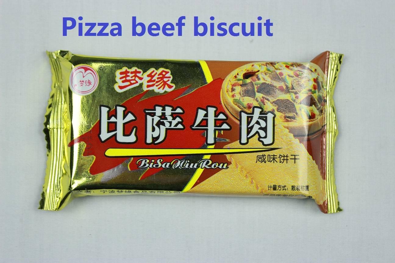 Pizza beef salty flavor biscuit