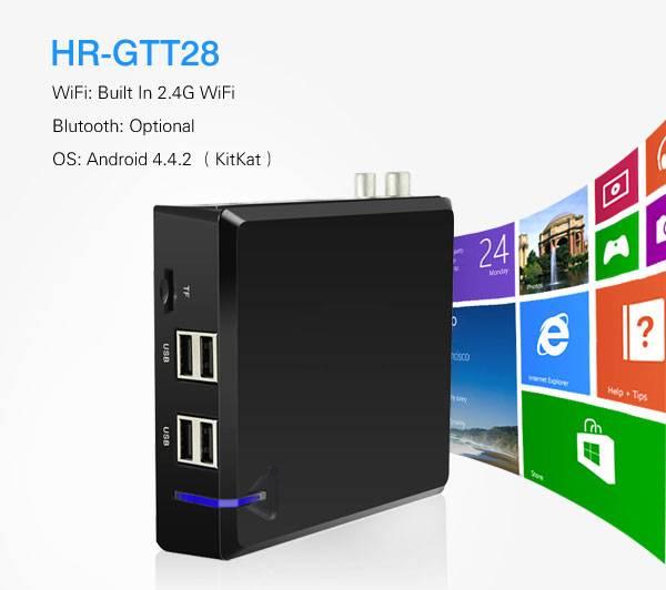 Quad Core Amlogic S805 Android TV Box+DVB-T2 HR-GTT28
