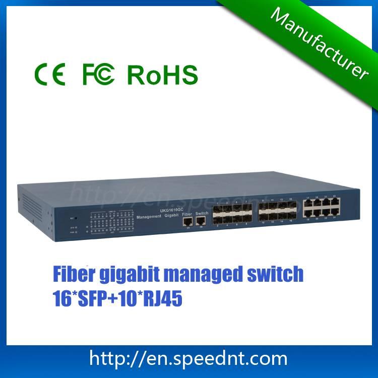 Managed Gigabit Fiber Switch UKG1610GC L2/L4 16 SFP ports 10 RJ45 ports