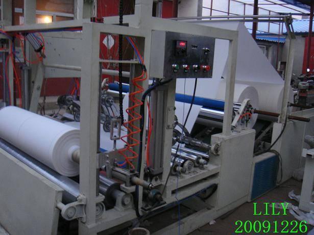 Tray paper slitting machine