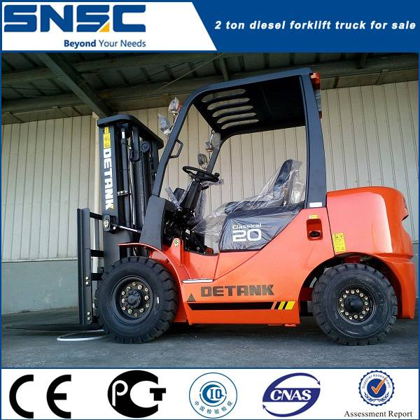 New 2 ton hand manual control diesel fork container lifter
